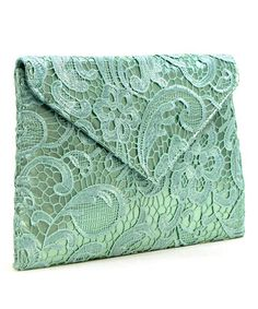 Look what I found on #zulily! Mint Lace Crossbody Bag #zulilyfinds