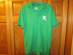 EXPRESS MEN'S GREEN POLO SHIRT, SIZE LARGE WITH LOGO #EXPRESS #ButtonFront eBay item number:131944933887