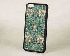 Honeysuckle Floral iPhone 6 case features intricate and beautiful artwork adapted from a vintage design by William Morris. Peach flower