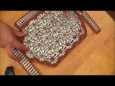 Como hacer una bolsa con fichas de aluminio: Bolso Queta parte 1 - YouTube