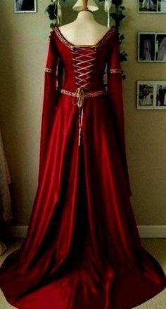 12785d116f8 Nice Red Medieval Dress 2018 Vestido De Bruxa