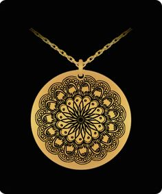 Laser Engraved Gold Plated or Stainless Steel Flower Design 2 Necklace Gems Jewelry, Evie, Laser Engraving, Flower Designs, 18k Gold, Mall, The Incredibles, Stainless Steel, Birthday