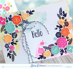 love this card made by Betsy Veldman using Papertrey Ink Mini Blooms