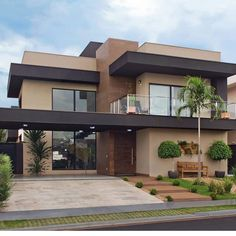 Best House Modern Family Ideas house is part of Facade house - Architecture Design, Modern Architecture House, Facade Design, Exterior Design, Architecture Colleges, California Architecture, Roman Architecture, Amazing Architecture, Dream House Exterior