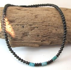 Men/'s Magnetite Necklace Dark Amber Carnelian Cylinder Brazilian Magnetite  Magnetic Jewelry Magnetite  Jewelry neck and shoulder pain
