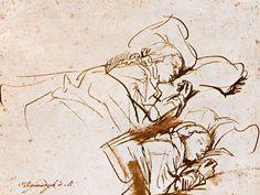 Rembrandt, reed pen