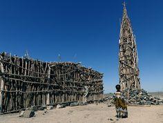 Wooden mosque in Asaita area, Danakil, Ethiopia
