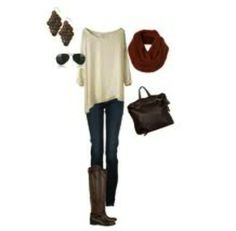 Simple outfit, with a nice touch of accessories.