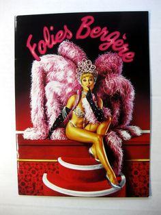 1992 Famous Folies Bergere Paris Theater Program Sexy Showgirls!