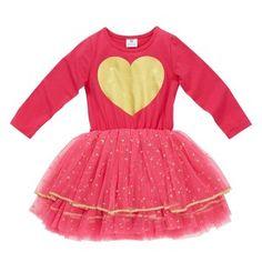 Hootkid Valentine Tutu - Hot Pink