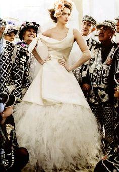 Elie Saab, i think, Vogue UK Wedding Supplement