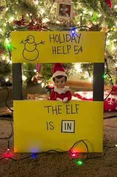 Elf on the Shelf. LOVE this one!