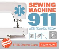 Free On-Line Sewing Classes - One of these days I'm going to learn how to sew! Sewing Machine Basics, Sewing Machine Tension, Sewing Machine Repair, Sewing Basics, Sewing Machines, Sewing Classes For Beginners, Sewing Tutorials, Sewing Hacks, Sewing Crafts