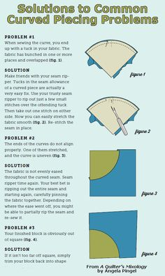 Having trouble with curved piecing? Check out Angela Pingel's problem solving tips>>