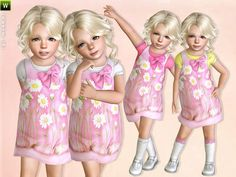 Light Pink Daisy Dress by Lillka - Sims 3 Downloads CC Caboodle