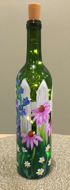 #paintedwinebottles