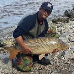Another day another Monster. Reid Breton pulls in this beautiful 34.5lbs Common Carp. Caught with Sweetcorn on modified hair rig.  Want to submit your catch? Visit: