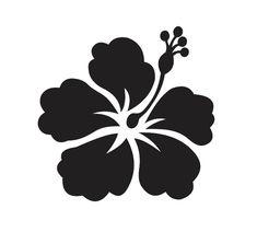Hibiscus Flower 2 STENCIL Pick a size between by OaklandStencil