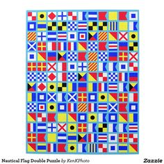 Nautical Flag Double Puzzle- This is also a word search as well as a jigsaw puzzle!  #nautical #flag #puzzle