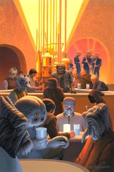 Foto: #McQuarrieMonday - Mos Eisley Cantina: where you hope nobody knows your name.