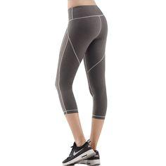 Eumerce Women's Summer Mesh Digital Printing Gym Sports Workout Yoga Capri Legging Pants