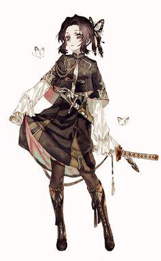 Demon Slayer: Kimetsu no Yaiba (鬼滅の刃) Anime Angel, Anime Demon, Kawaii Anime Girl, Anime Art Girl, Anime Boys, Demon Slayer, Slayer Anime, Fantasy Characters, Anime Characters