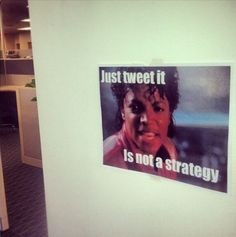 Words of wisdom hanging in the @Constant Contact social media team's corner..
