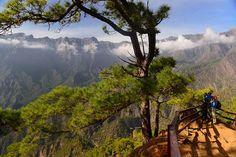 Panorámica de La Caldera desde La Cumbrecita, Isla de La Palma. Islas Canarias