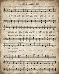 Down the Path Creations Free printable Jesus Loves Me, Vintage Sheet Music, Hymnal Page, Wall Art, Freebie Sheet Music Crafts, Old Sheet Music, Music Paper, Vintage Sheet Music, Sheet Music Decor, Music Sheets, Diy Vintage, Look Vintage, Vintage Prints