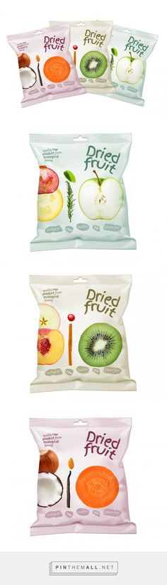 Dried Fruit Bio Raw Packaging Design | MAISON D'IDÉE - created via…