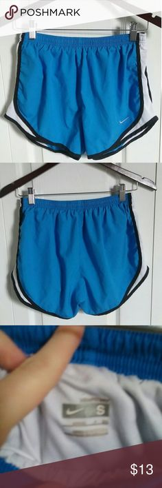Nike running shorts Blue lightweight Nike Fit Dry S(4-6) elastic waistband with built-in brief for added support as you move. Only worn a few times, they run a little bigger. Nike Shorts