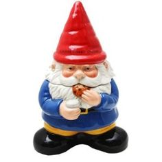 Gnome Sweet Gnome Cookie Jar: Handpainted Kitchen Ceramic Collectible