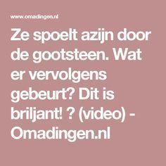 Ze spoelt azijn door de gootsteen. Wat er vervolgens gebeurt? Dit is briljant! (video) - Omadingen.nl