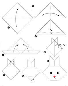 origami lapin                                                                                                                                                                                 Plus