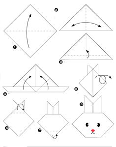 origami facile animaux lapin