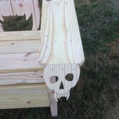 SKULL CHAIR ADIRONDACK chair..Queen sized chair yard by MandWs