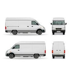 Realistic cargo van advertising mockup vector Turkish Van Cats, Turkish Angora Cat, Cat Vector, Retro Vector, Mercedes Van, Truck Icon, Surf Logo, Coffee Van, Travel Camper