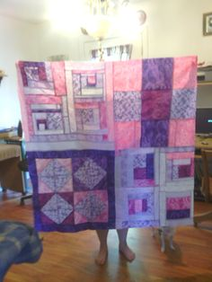 my first quilt!  I made this for my mom. @ missouri star quilt company