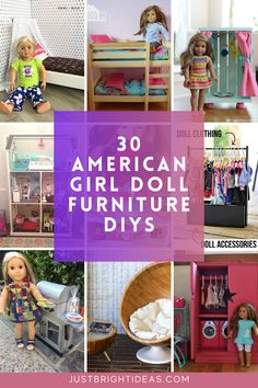 These DIY American Girl Doll projects are a great way to make furniture and even houses without spending a lot of cash. There is something here for all skill levels.