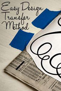 Easiest Design Transfer Method EVER