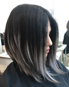 haj 83 Popular Inverted Bob Hairstyles For This Season Bobbed Hair styles Work Apparel Article Body: Medium Hair Styles, Curly Hair Styles, Inverted Bob Hairstyles, Long Bob Haircuts, Brown Hair With Highlights, Peekaboo Highlights, Balayage Hair, Brown Balayage, Hair Lengths