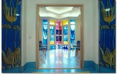 Stained glass by Catrin Jones at Bristol Royal Hospital for Children