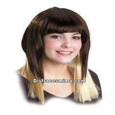 Tu mejor peluca morena con mechas californiana larga.Es ideal para complementar cualquier disfraz de personajes famosos o disfraces sexys y lucirla en tus mejores fiestas de disfraces.pelucas para fiestas
