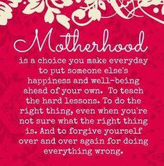 MOTHERHOOD: