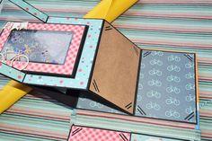 "Pop up album ""Little boy""/page pop up book/birthday card ideas/책을. Large Scrapbook, Papel Scrapbook, Photo Album Scrapbooking, Mini Scrapbook Albums, Baba Yaga, Valentines Day Drawing, Tarjetas Pop Up, Diy Crafts For Girls, Bird Crafts"