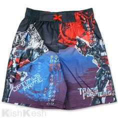 b26702a7f5 Bumblebee Grimlock and Optimus Prime Transformers boys swim shorts for  summertime fun in or out of the water Transfomers clothing at Kids Fashion  Clothes ...