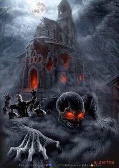 Happy Halloween Gif, Halloween Imagem, Photo Halloween, Halloween Arts And Crafts, Halloween Artwork, Halloween Pictures, Halloween Skeletons, Creepy Halloween, Halloween 2019