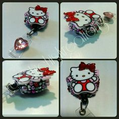 Hello Kitty badge reel Www.etsy.com/shop/chichiskreations