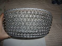 Vintage Silver Wire Mesh Beaded Round Basket by TammysFindings, $35.00