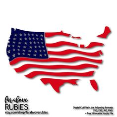 United States American Flag Wavy - SVG, EPS, dxf, png, jpg digital cut file for Silhouette or Cricut Independence July Memorial Patriotic Vinyl Monogram, Vinyl Paper, Silhouette Cameo Projects, God Bless America, Party Items, Wall Art Designs, Svg Cuts, Free Silhouette, Silhouette Studio